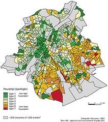 Kaart Brussel: huurprijs
