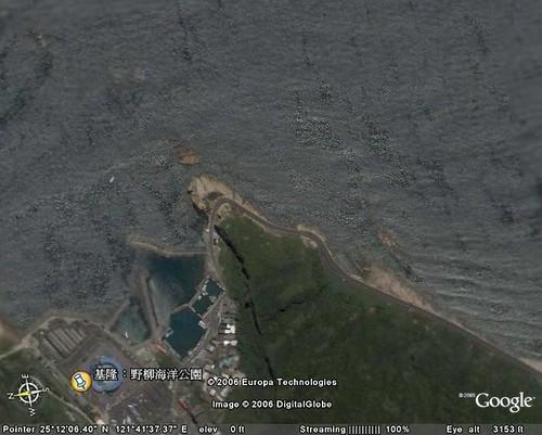 野柳駱駝岬潛水點空照圖
