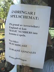 Emmaboda: Terrorism