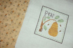 Pear with backing fabric