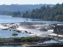 Willamette Falls Locks close-up