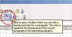 fill toolbar in cal 1