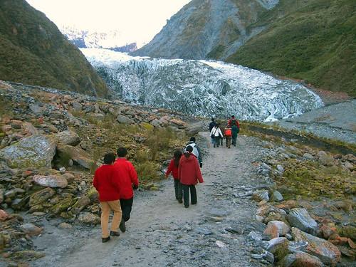 Fox Glacier在望