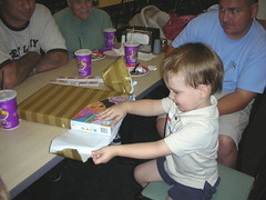 Jake opening presents on his 4th Birthday!