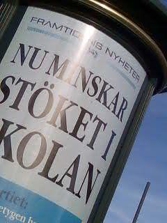 Annonstavla: 'Framtidens nyheter: Nu minskar stöket i kolan'