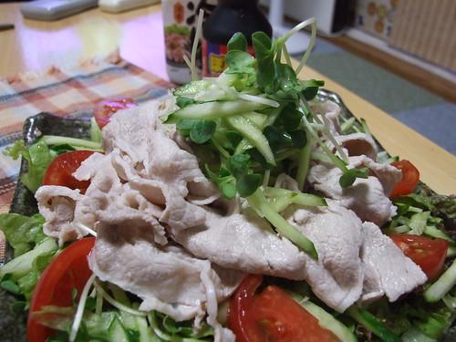 blanched pork and vegetable salad!!