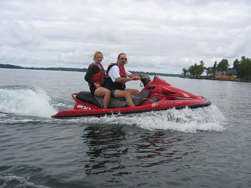 Brock and Maggie on Jet Ski