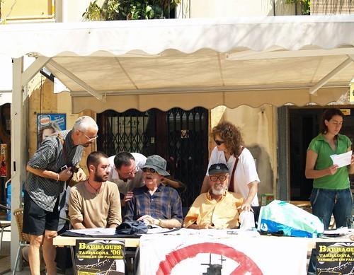 César Reglero, Isabel Jover y otros artistas en Paraules per la Pau de septiembre de 2006