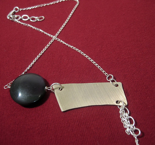 Asymmetrical Jive Cymbal Necklace
