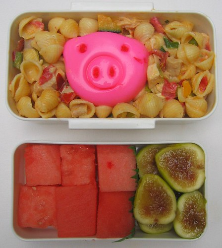 Pig egg pasta lunch お弁当