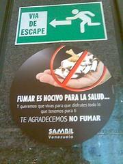 No fumar en el Sambil
