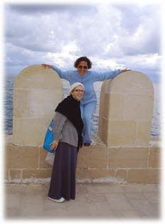 LynnH and Altu in Alexandria, Egypt on the Mediterranean Sea, 2004