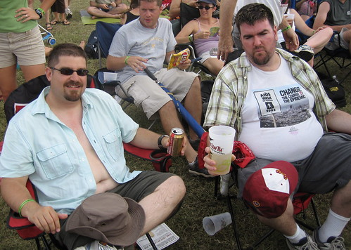 David and John chill, ACL style.