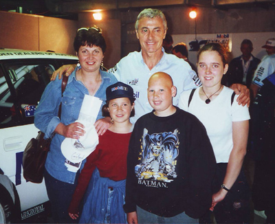 Our family with Peter Brock, November 1996
