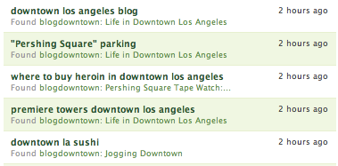 Searches to find blogdowntown