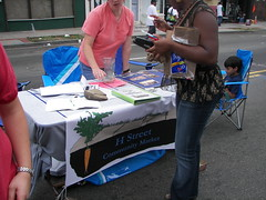 Annie Donovan at the H Street Community Market booth, H Street Festival