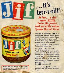 JIF Peanut Butter brochure