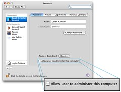 Convert Administrator to Standard user in Mac OS X