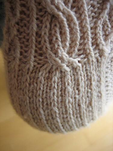 Bayerische sock. Heel detail.