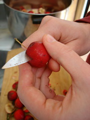 preparing crab apples
