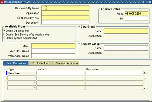Oracle Form Personalization (Responsibilities1)