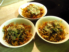 Crispy Noodle Salad: Final Serve.
