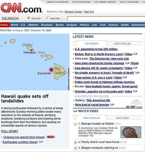 hawaii quake