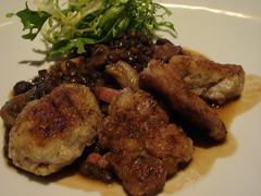 Oven Roasted Sweetbread with Lentils du Puy