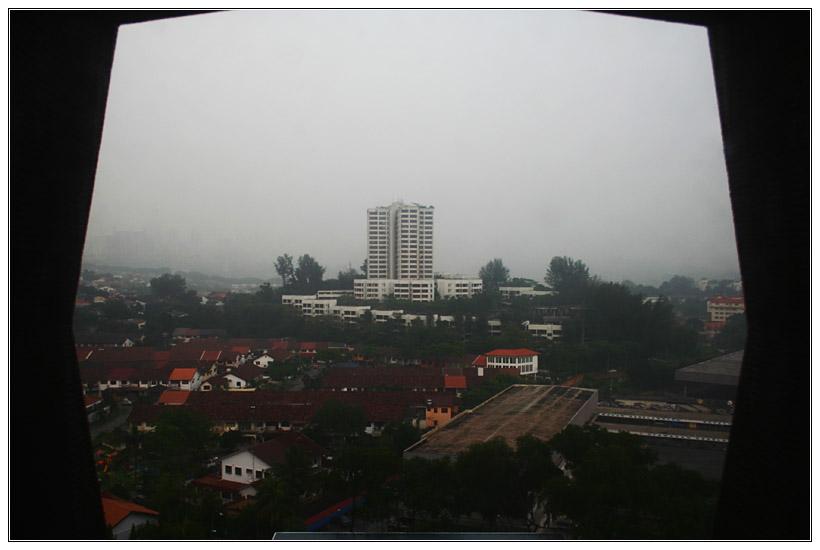 Approaching Rain in Haze