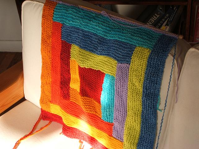 Log Cabin Baby Blanket for Ulli