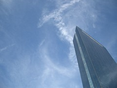 A picture of the Hancock Building