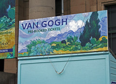 Vincent Van Gogh exibition ticket booth outside Edinburgh's Dean Gallery