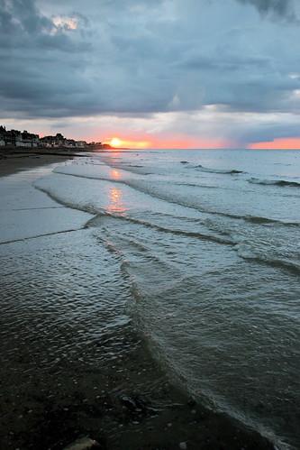 Coucher de soleil sur la mer, Normandie