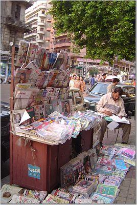 Arabic news stand