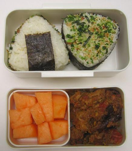 Spicy tuna onigiri bento x 2