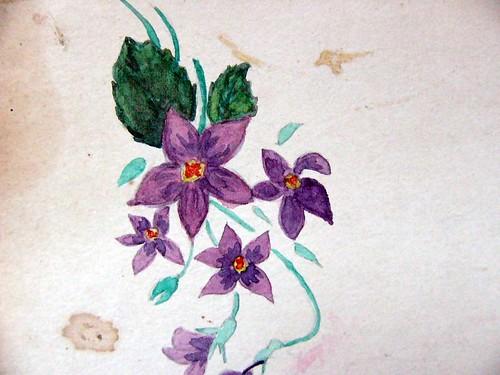 पानी के रंग से फ़ूल