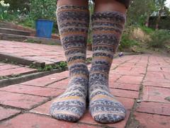 uneven socks