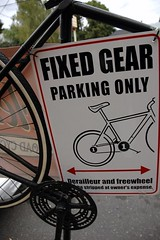 fixed gear sign