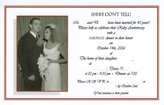 40th anniversary invitation