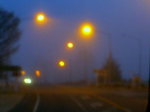 晨光中大霧裡的Te Anau-2