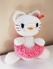 Hello crocheted Kitty
