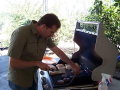 Jim grilling