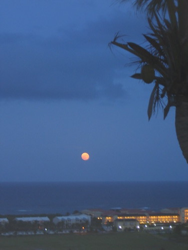 Moon over Marriot - St. Kitts