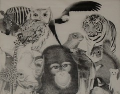 Animals Pen and Ink photo by Lenore Ramm