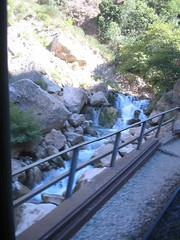 Scenic waterfalls and Vouraikos river