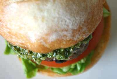 Lamb Kofta Burger with Coriander Chilli Pesto