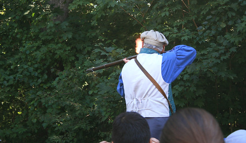 Old Stubridge Village Homeschool Day: musket shooting