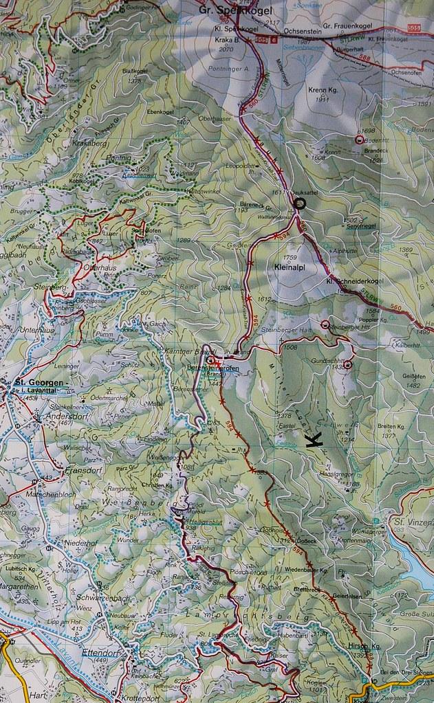 Ettendorf és környékének térképe