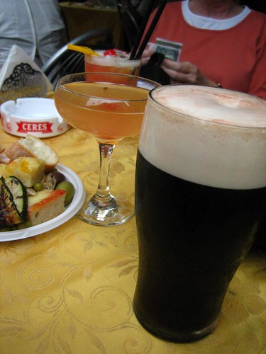 Drinks and Snacks at Bar Brera