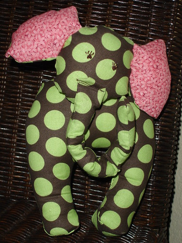 polka dot elephant- front